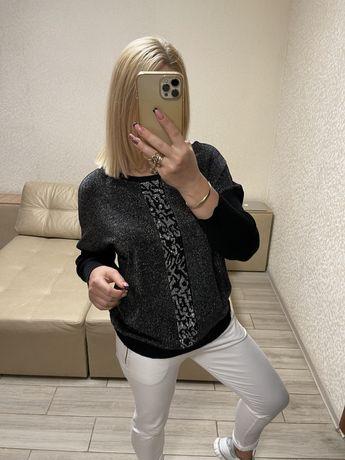 Женская кофта свитер джемпер туника)италия))размер;56;50;52;54