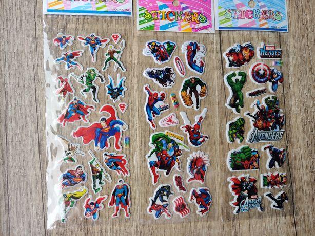 Naklejki z superbohaterami wypukłe Marvel Avengers spider man super ma