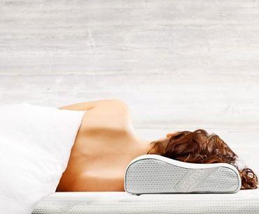 Ортопедическая подушка для сна WELLPUR silver 40x60х11/9см