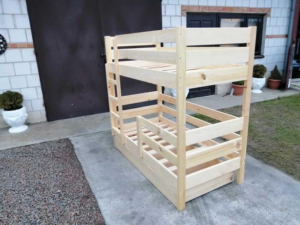 Łóżko drewniane piętrowe