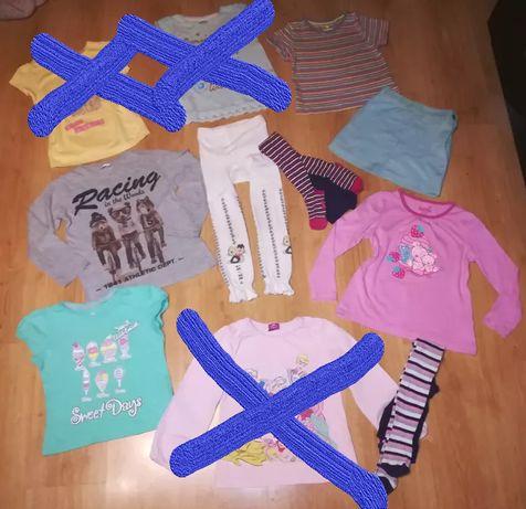 Mega paka ciuszków ubranek dla dziewczynki przedszkole 5-6 lat tanio