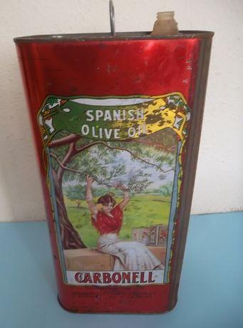 Lata de azeite antiga marca Carbonell