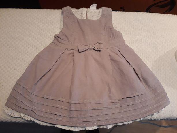 Sukienka 68 dla dziewczynki Coolclub z bluzeczką w komplecie