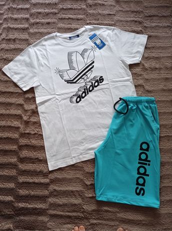 Fato calção e t-shirt