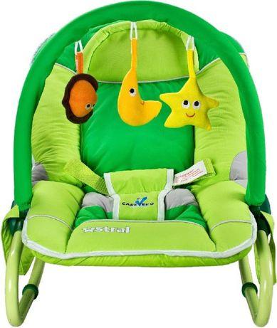 Leżaczek dla dziecka zielony