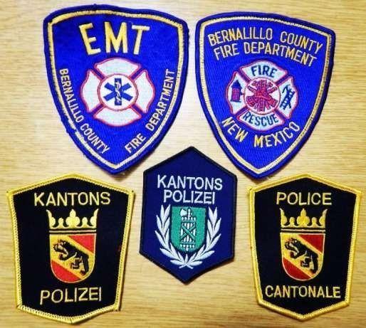 Нашивки, шевроны полиции и пожарных на выбор