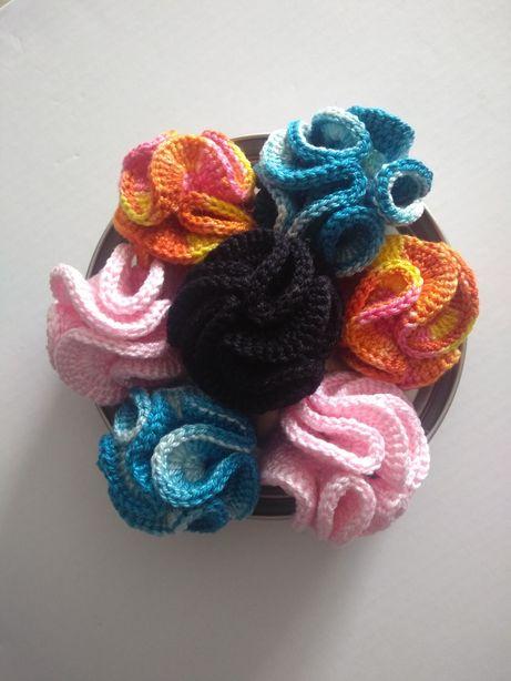 Anéis Coral - crochê - artesanais