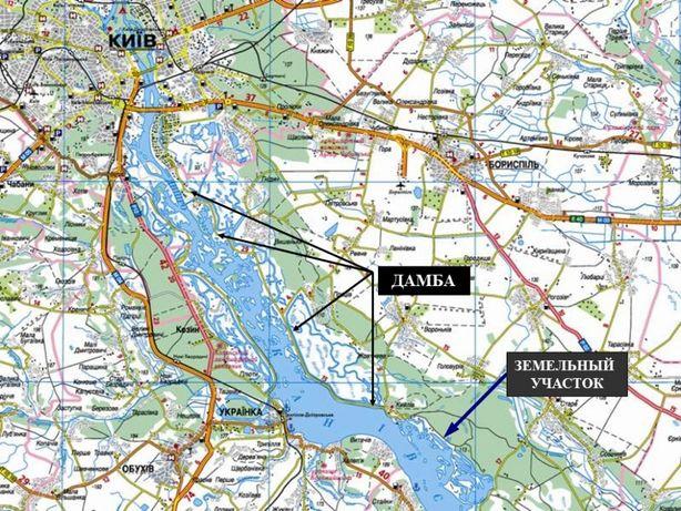 Участок для жилой застройки на Днепре, Кийлов, Борисполь.