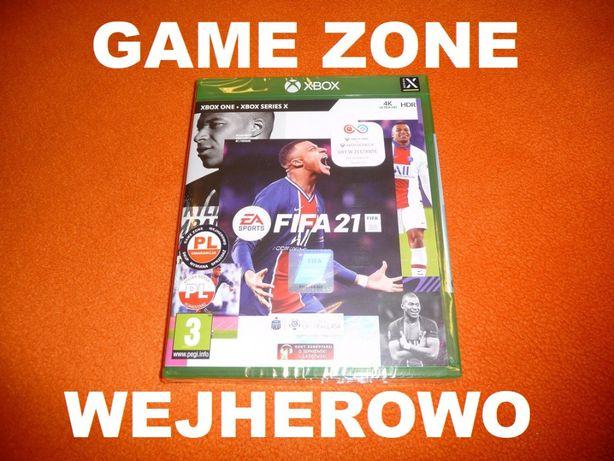 Fifa 21 Xbox One + S + X = PŁYTA PL Wejherowo / Folia = Fifa 2021