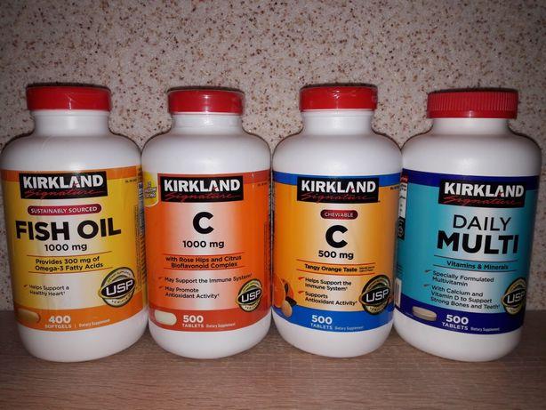 Вітаміни із США Kirkland: Д3, Е,C 500-1000mg.Daily Multi мультивітамін