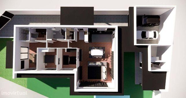 Moradias térreas e isoladas em construção (planta), Lourosa