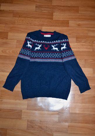 Новогодний зимний свитер H&M мальчику