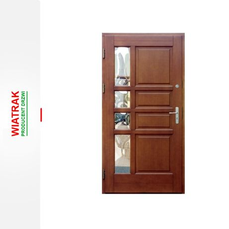Drzwi zewnętrzne drewniane ocieplane od ręki 78mm Węgrów i okolice