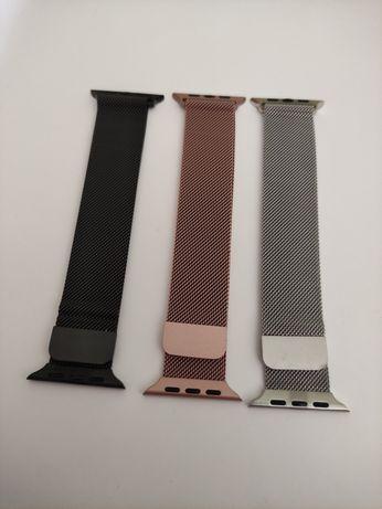Braceletes de metal e aço para mulher - Apple Watch 42/44mm