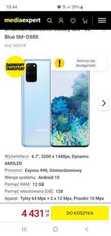 Samsung S20+ plus 5G 12/128 stan sklepowy