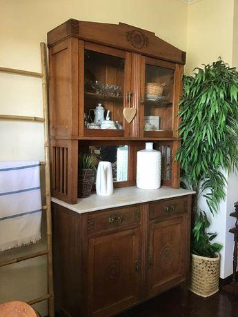 vitrine, louceiro, cristaleira, armario, rustico, vintage