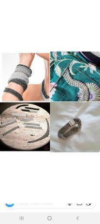 Srebrna bransoletka od projektanta