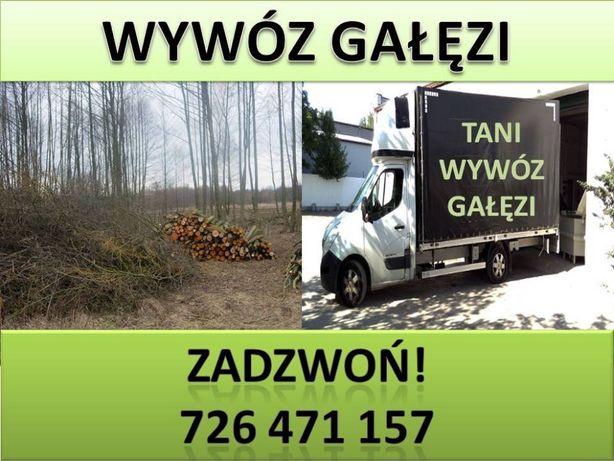 Wywóz odpadów zielonych- gałęzie - liście -Łódź Region