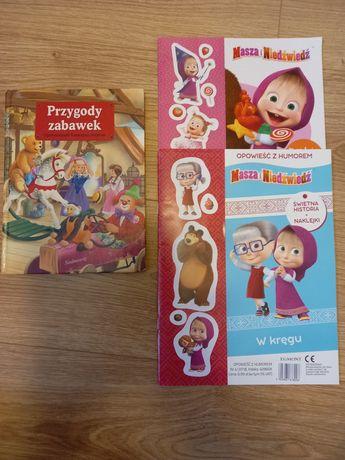 Przygody zabawek; gratis książeczki Masza i Nidźwiedź