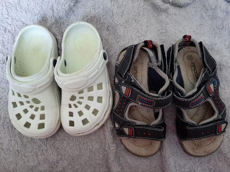 Sandałki 30 i klapy zestaw