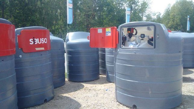 Zbiornik dwupłaszczowy na paliwo SiBUSO 1500 l ON Diesel WARSZAWA