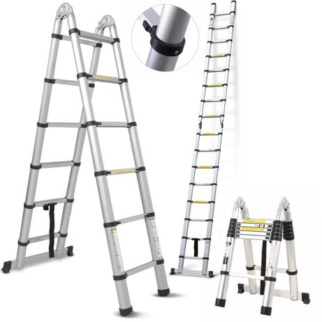 Drabina Aluminiowa Teleskopowa Dwustronna 380cm