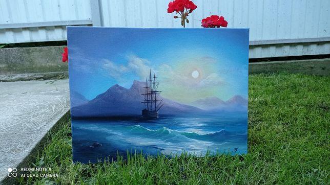 Картина маслом, море, живопис