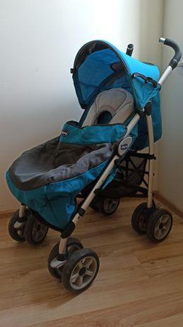 Wózek spacerowy, parasolka Chicco, niebieski