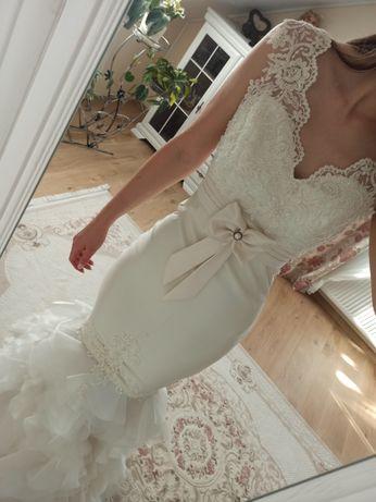 Suknia ślubna cudowna syrenka 2w1 Dejanira 36 38