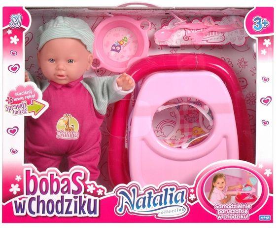Lalka Natalia Chodząca Bobas w chodziku Artyk