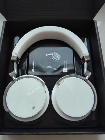 NOWE Białe Słuchawki bezprzewodowe Bluedio Turbine Duże JbL Sony