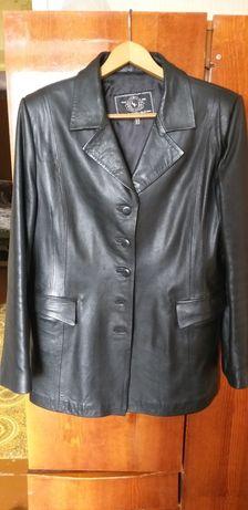 Кожанный женский пиджак