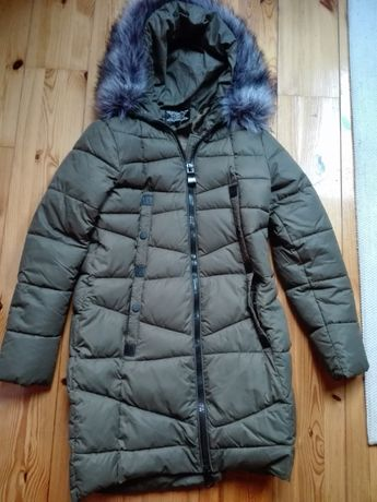 Ciepła kurtka zimowa khaki rozmiar L