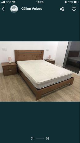 Aceito propostas Conjunto de cama em pinho mel