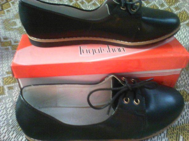 Туфельки женские на шнурочках. Р-р 41.