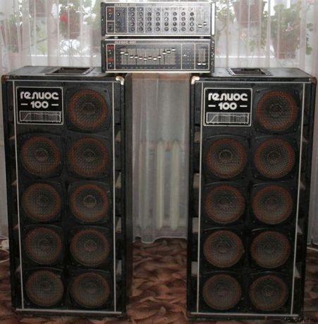 Комплект звука караоке модуль усилитель мощности колонки Гелиос 001