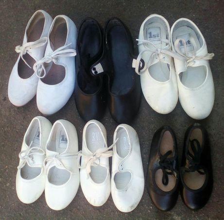 Туфли детские для танцев степ чечетка
