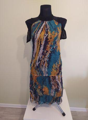 Zwiewna i lekka tunika sukienka ZARA BASIC r. M