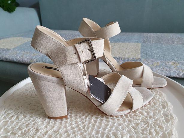 Zara sandały z koziej skóry 39 nowe