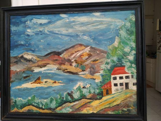 Pintura antiga paisagem