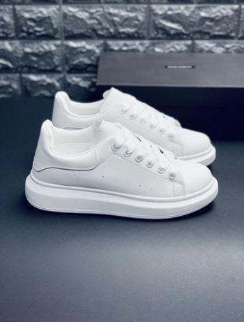 Alexander McQueen кожаные белые кроссовки мужские кеды
