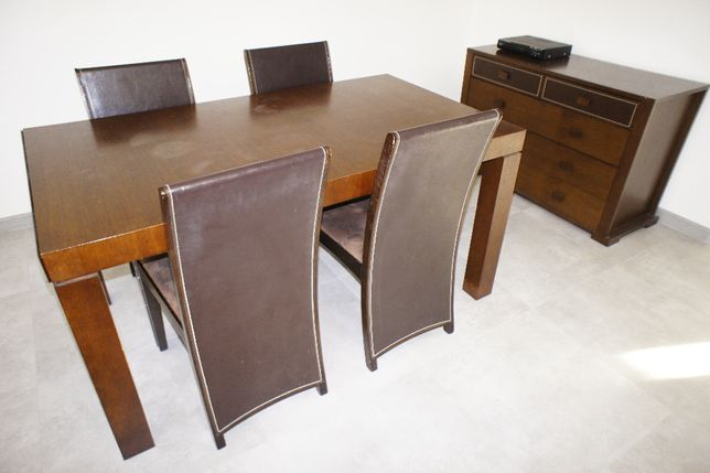 Stół Vinotti rozkładany do jadalni + 4 krzesła Vinnotti