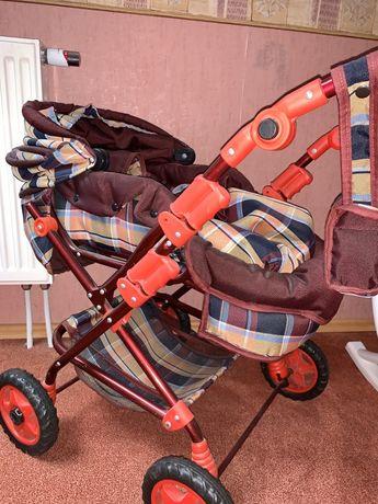 duży wózek dla lalek z nosidełkiem i torbą na akcesoria