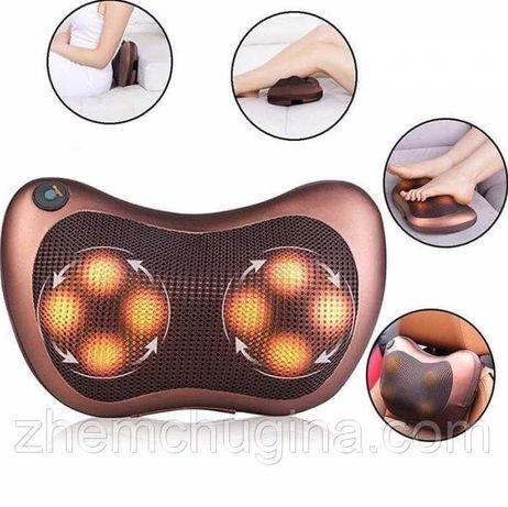 Массажная подушка на 8 роликов для спины и шеи Massage pillow GHM 8028