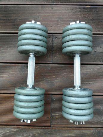 Hantle żeliwne rozkręcane 2x14kg