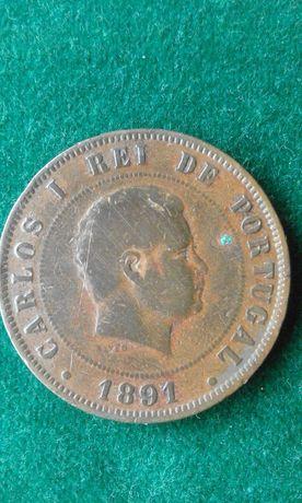Moeda 20 Reis 1891