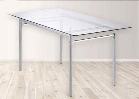 Stół szklany 90x160 + 4 krzesła skórzane