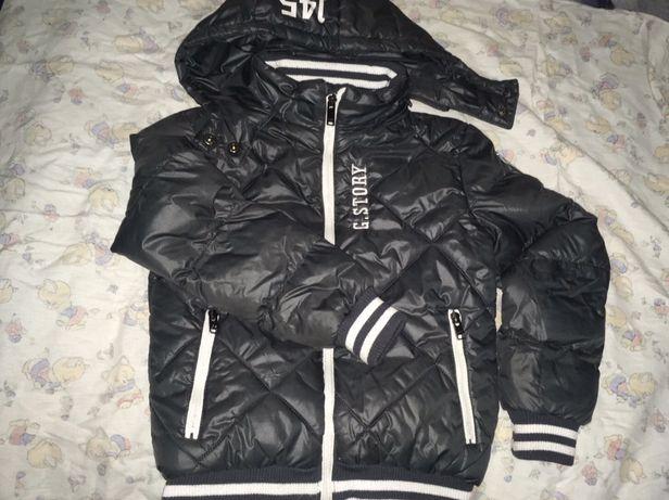 Оболденная тёплая куртка на мальчика 7-10 лет