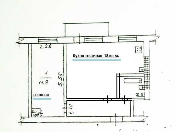 Продам 1 комн. квартиру 43 кв.м. в начале М. Говорова