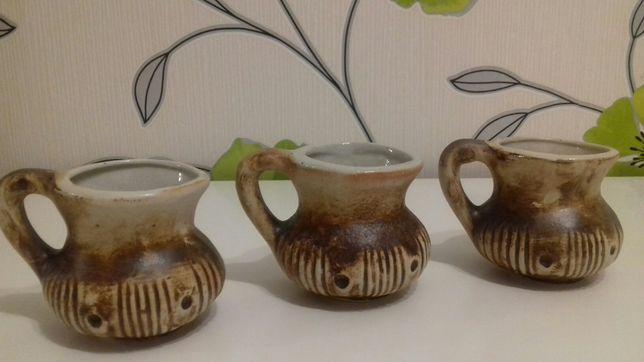 Ceramiczne kubeczki z PRL lata 70